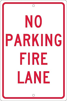 No Parking Fire Lane, 18X12, .063 Aluminum
