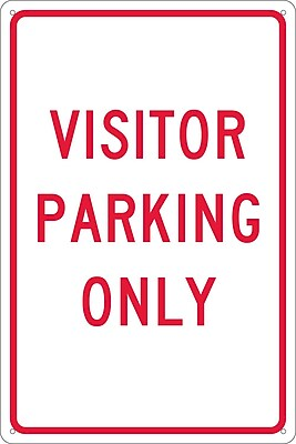 Visitor Parking Only, 18X12, .040 Aluminum