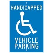 Handicapped Vehicle Parking, 18X12, .063 Aluminum