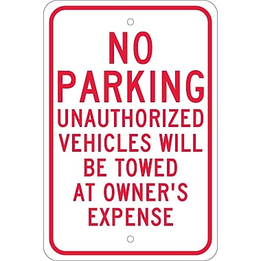 No Parking Unauthorized Vehicles Will Be Towed.., 18