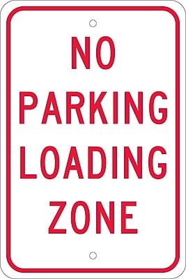 No Parking Loading Zone, 18X12, .080 Egp Ref Aluminum