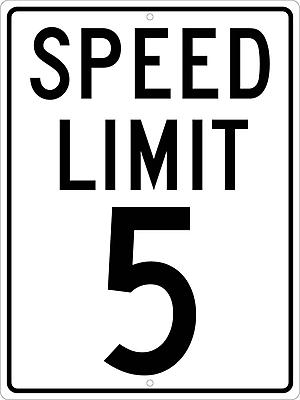 Spped Limit 5, 24X18, .080 Hip Ref Aluminum
