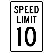 Panneau Speed Limit 10, 18 x 12 po, aluminium 0,040