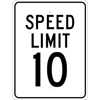 Speed Limit 10, 24X18, .080 Egp Ref Aluminum