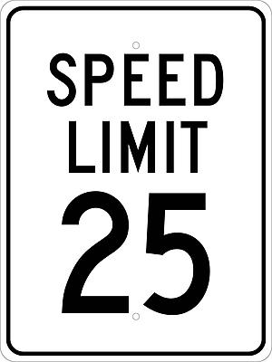 Speed Limit 25, 24X18, .080 Egp Ref Aluminum