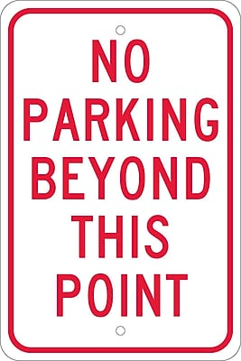 No Parking Beyond This Point, 18X12, .080 Egp Ref Aluminum