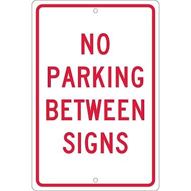 No Parking Between Signs, 18X12, .063 Aluminum