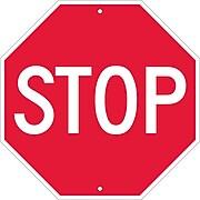 Stop Signs; Stop, 18 X 18,  Rigid Plastic
