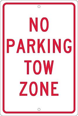 No Parking Tow Zone, 18X12, .063 Aluminum