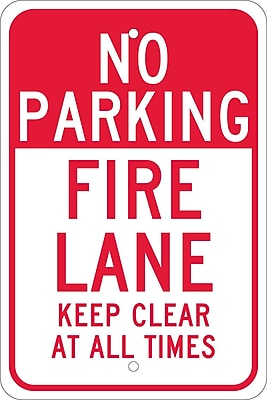 No Parking Fire Lane Keep Clear At All Times, 18X12, .080 Egp Ref Aluminum