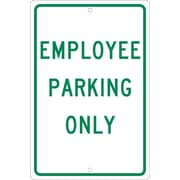 Employee Parking Only, 18X12, .063 Aluminum