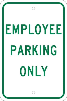 Employee Parking Only, 18X12, .080 Egp Ref Aluminum