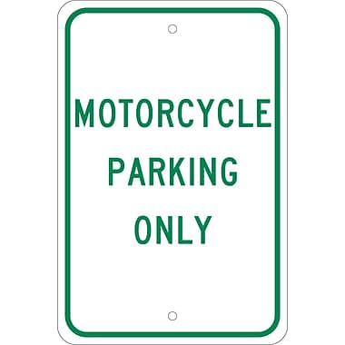 Motorcycle Parking Only, 18X12, .080 Egp Ref Aluminum