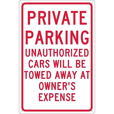 Private Parking Unauthorized Cars Will Be Towed.., 18
