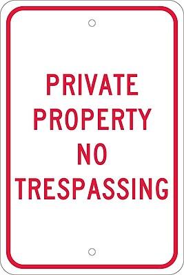 Private Property No Trespassing, 18X12, .080 Egp Ref Aluminum