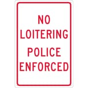 No Loitering Police Enforced, 18X12, .040 Aluminum