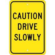 Caution Drive Slowly, 18X12, .080 Egp Ref Aluminum