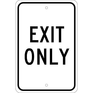 Exit Only, 18X12, .080 Egp Ref Aluminum