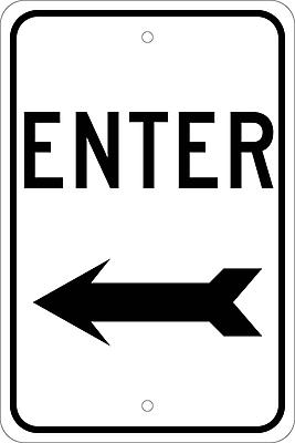 Enter (With Left Arrow), 18X12, .080 Egp Ref Aluminum