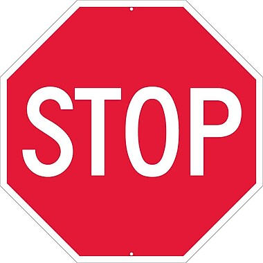 Stop Octagon, 30X30, .063 Aluminum