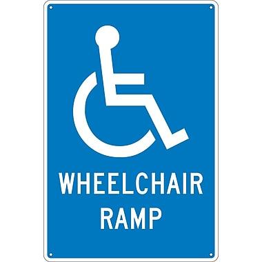 Panneau Wheelchair Ramp, 18 x 12 po, aluminium 0,040