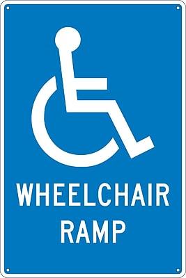 Wheelchair Ramp, 18X12, .040 Aluminum