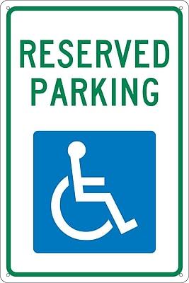 Reserved Parking, 18X12, .040 Aluminum