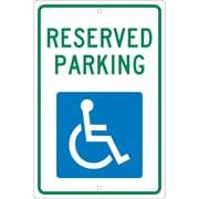 National Marker - Panneau de sécurité Reserved Parking, 18 x 12 po, aluminium 0,063