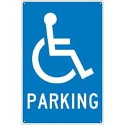 Parking (W/ Handicapped Symbol), 18X12, .040 Aluminum