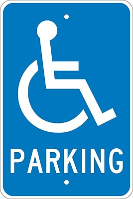 Parking (W /Handicapped Symbol), 18X12, .080 Egp Ref Aluminum