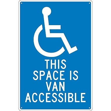 This Space Is Van Accessible, 18X12, .040 Aluminum