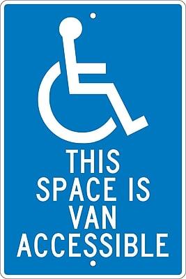 This Space Is Van Accessible, 18X12, .063 Aluminum