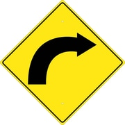 (Graphic Of Right Curved Arrow) 24X24 , .080 Hip Ref Aluminum