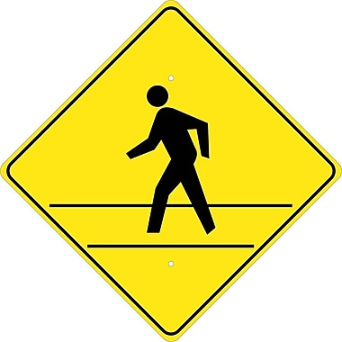 Graphic Of Man In Crosswalk, 24