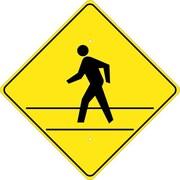 (Graphic Of Man In Crosswalk), 24X24, .080 Hip Ref Aluminum