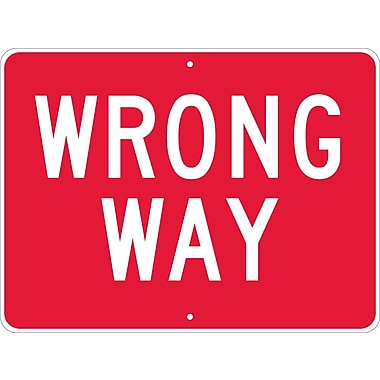 Wrong Way, 18X24, .080 Egp Ref Aluminum