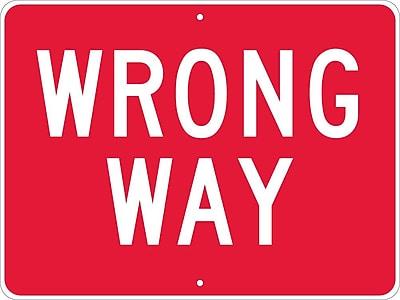 Wrong Way, 24X18, .080 Hip Ref Aluminum