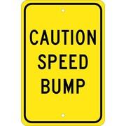 Caution Speed Bump, 18X12, .080 Egp Ref Aluminum