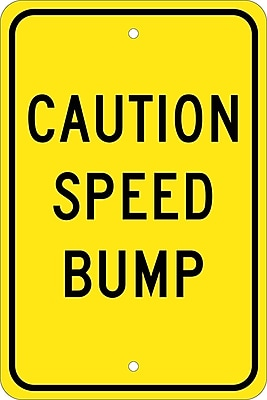Caution Speed Bump, 18X12, .080 Egp Ref Aluminum