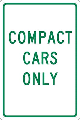 Compact Cars Only, 18X12, .040 Aluminum