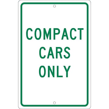 Compact Cars Only, 18X12, .063 Aluminum