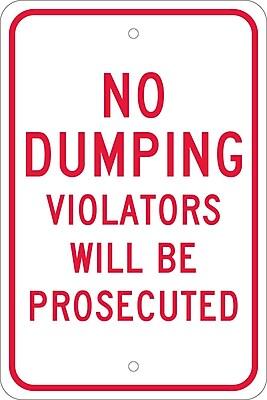 No Dumping Violators Will Be Prosecuted, 18X12, .080 Egp Ref Aluminum