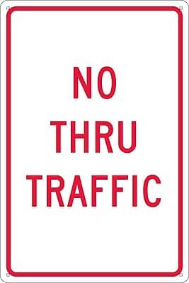 No Thru Traffic, 18X12, .040 Aluminum