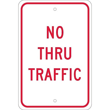 No Thru Traffic, 18X12, .080 Egp Ref Aluminum