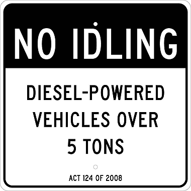 No Idling,Deisel-Powered Vehicles Over 5 Tons Act 124 Of 2008, 24