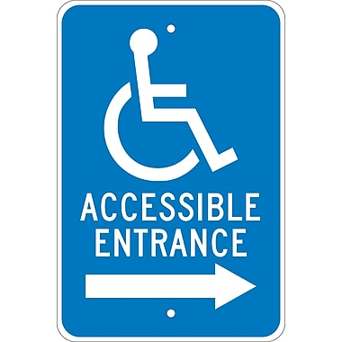 Graphic, Accessible Entrance (Right Arrow), 18X12, .080 Egp Ref Aluminum