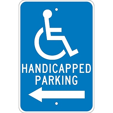 Graphic, Handicapped Parking (Left Arrow), 18X12, .080 Egp Ref Aluminum