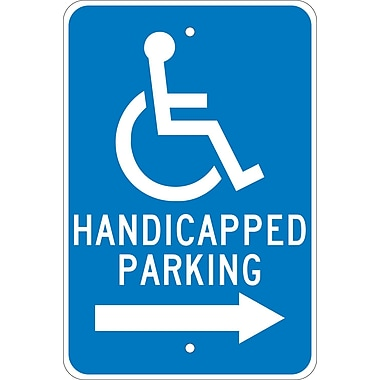 Graphic, Handicapped Parking Right Arrow, 18