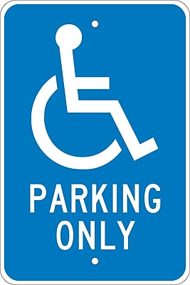 Graphic, Parking Only, 18X12, .080 Egp Ref Aluminum