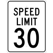 """Speed Limit 30, 24"""" x 18"""", .080 Egp Ref Aluminum"""